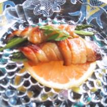 太刀魚の幽庵焼き、グレープフルーツ風味