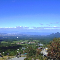桝水高原天空リフト景観