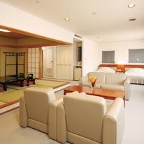 61平米スイートルーム和洋室【ツインベッドと和室8畳】