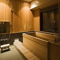 ≪ROYAL SUITE ROOM≫マウントビュー側にはヒバ風呂があります。
