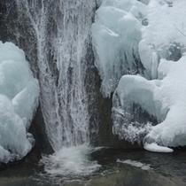 【しかべ三味線滝】雪模様
