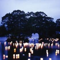 大沼湖水まつり灯篭流し