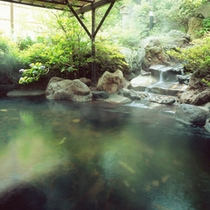 【露天温泉岩風呂】新緑シーズン