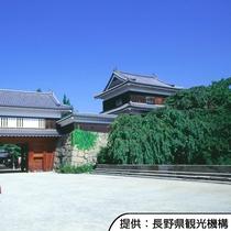 【上田城跡】真田氏の居城。桜の名所としても知られています。ホテルから車約50分です。
