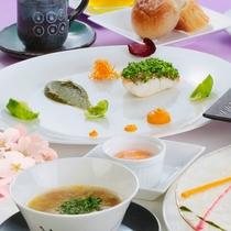 【フランス料理・春】三種の長野県産ワインとご一緒に(イメージ)