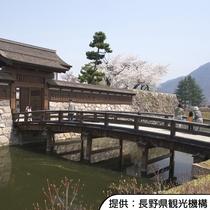 【松代城跡の桜】4月中旬~4月下旬(見頃の目安)/ホテルから徒歩約15分