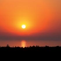 屋上からの景観(夕陽)