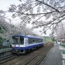 【能登鹿島駅】「能登さくら駅」の愛称で親しまれています※お車で約50分