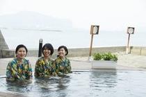 砂むし温泉に併設する露天風呂