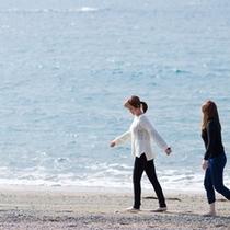 ホテルから徒歩約5分の千里海岸♪ウミガメも夏には産卵にくる自然豊かな海岸です♪