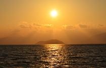 竹生島・夕陽