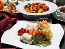 【食事】中華・大皿卓盛りコースの一例