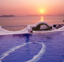 天恵の湯から眺める夕日
