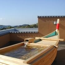 楽-爽快な気分を満喫♪ 屋上船型貸切露天風呂