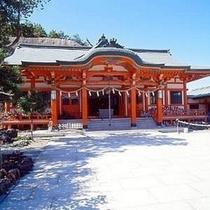 【淡嶋神社】 休暇村から車で7分 3月3日のお雛流しで有名な神社です