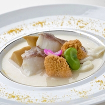 鯛 米粉スープ仕立て