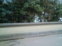 旅館の前の風景