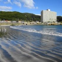 ホテル前海岸線