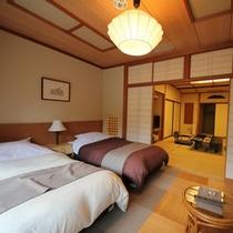 露天風呂付客室『吟龍』こまくさ 和洋室ベッドルーム