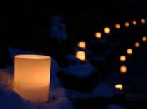 キャンドルページェント 蝋燭の灯