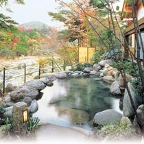 【秋の露天風呂】