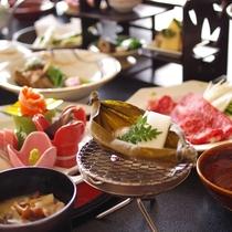 【春】露天風呂付き客室でのお食事~春のお料理~
