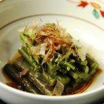 【夕食一例】野沢菜のしょうゆ漬け