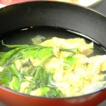 【夕食一例】根曲り竹のたけのこ汁
