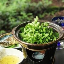 【夕食一例】クレソンの鍋