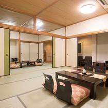 ▼【和室22.5畳(一例)】少しだけモダンな雰囲気を取り入れた二間続きの広い和室