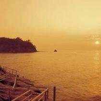 夕陽の景色