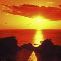 堂ヶ島温泉の夕陽10