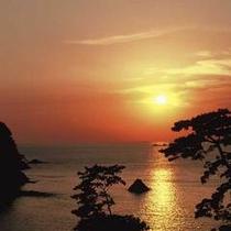 堂ヶ島温泉の夕陽8