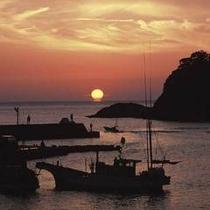 堂ヶ島温泉の夕陽7