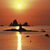 堂ヶ島温泉の夕陽4