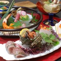 *【夕食一例】お刺身盛り合わせ