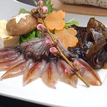 【夕食一例】ホタルイカのしゃぶしゃぶ