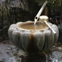 湧き出す天然温泉