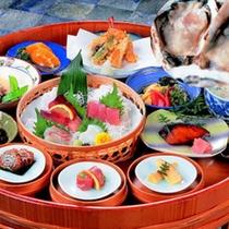 【磯桶料理+牡蠣】