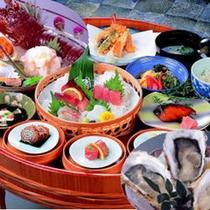 【磯桶料理+牡蠣+伊勢えび】