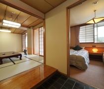 3世代宿泊可能。ベッドと和室の融合でどんなお客様にも対応いたします。