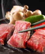 自分の好みの焼き加減でおいしい山形牛をどうぞ。