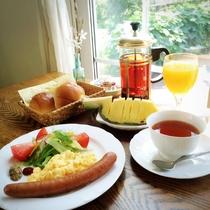 スタンダード朝食の一例
