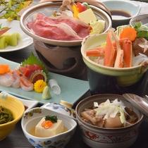 ◆カニ鍋&牛陶板焼きのお得プラン
