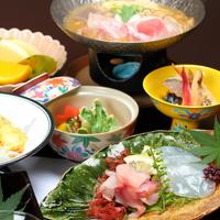 【夕食グレードUP】海のお造り&牛ステーキがプラス!お料理大満足・季節の会席料理をどうぞ♪