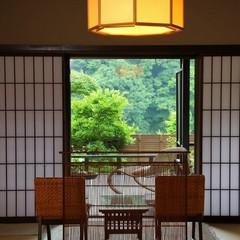 【1階14畳+露天風呂付】当館唯一の露天客室で贅沢なひと時を