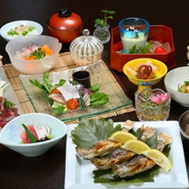 【食事】夏の会席料理