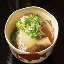 冬懐石 鯛の潮汁
