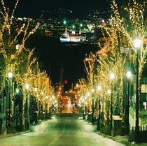 元町八幡坂風景(夜)