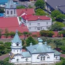 元町エリア「教会のある風景」(ハリストス聖教会・元町カトリック教会)